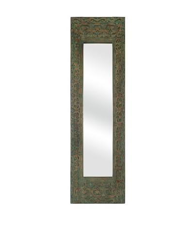 Sanura Wood Carved Rectangle Mirror