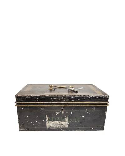 "Vintage Circa 1940's ""JD Shuget"" Metal Cash Box"