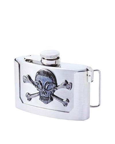 Skull Belt Buckle Flask
