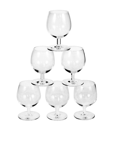 Set of 6 St. Lambert Cognac Glasses, Clear
