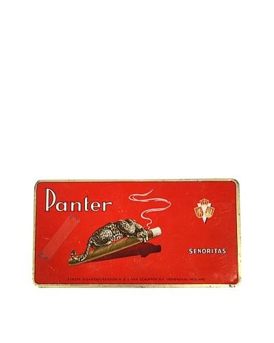 Vintage Panter Senoritas Tin, Red/Gold