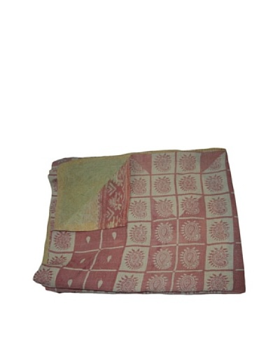Vintage Parul Kantha Throw, Multi, 60 x 90
