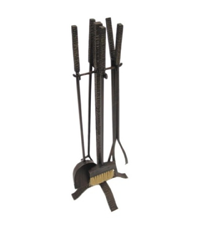 Hammered Metal Fireplace Tools