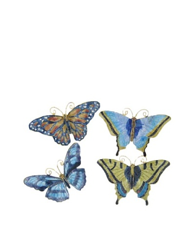 Set of 4 Pastel Butterfly Ornaments