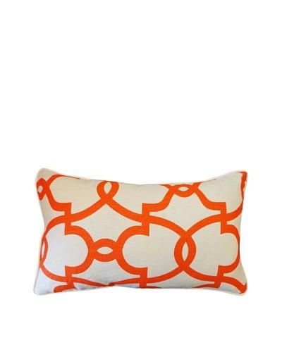 Dean Throw Pillow, Cream/Orange