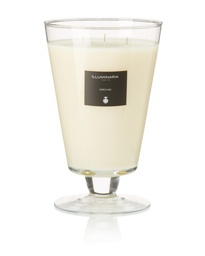Illuminaria Wax Filled Vase Candle Jar, Clear Orchid, 55 Oz.