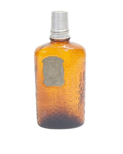 Rare Vintage  Circa 1950 Bourbon Deluxe Amber Glass Flask