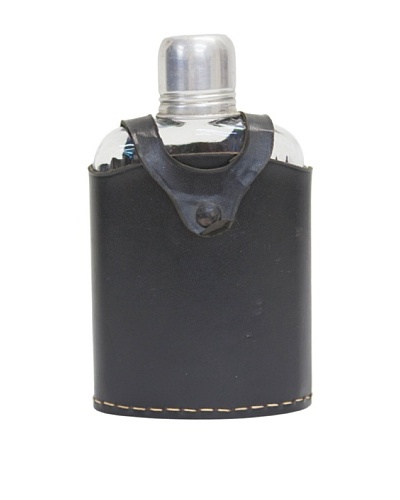 Glass Flask with Cap & Leather Holder