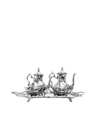 Vintage 5-Piece Coffee & Tea Service with Tray, c.1940s