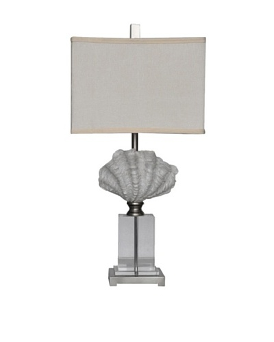 Crystal Beach Table Lamp, White Shell/Crystal