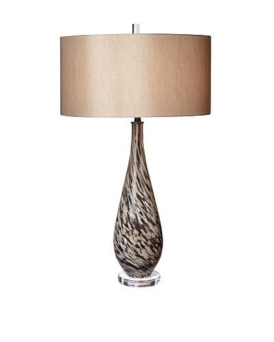 Mocha Swirl Art Glass Table Lamp