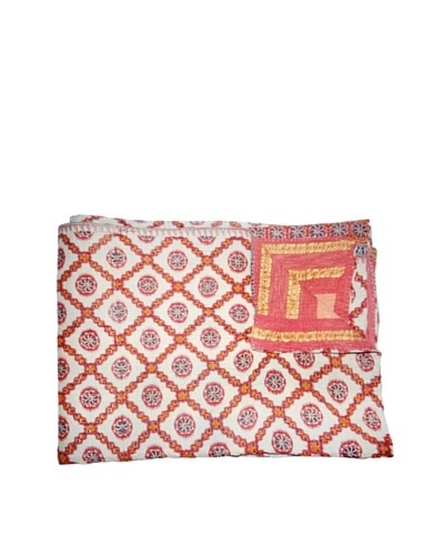 Vintage Kantha Throw, Multi, 60 x 75
