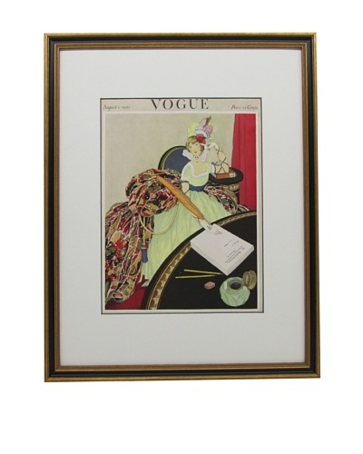 Original Vogue Cover from 1921 by George Wolfe Plank