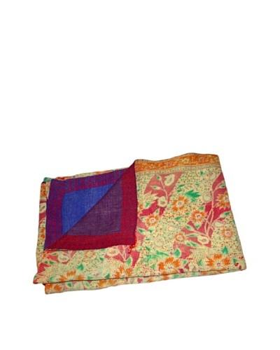 Vintage Preeti Kantha Throw, Multi, 60 x 90