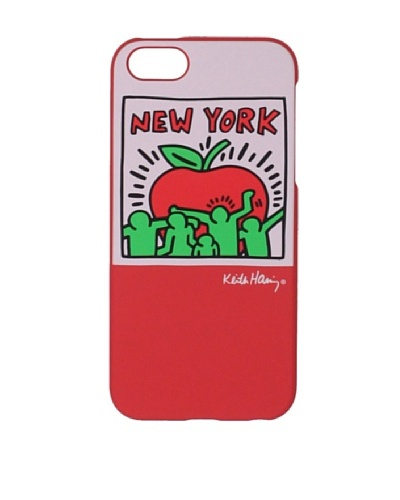 Keith Haring Collection Bezel Case for iPhone 5 with Earphones Big Apple/Red