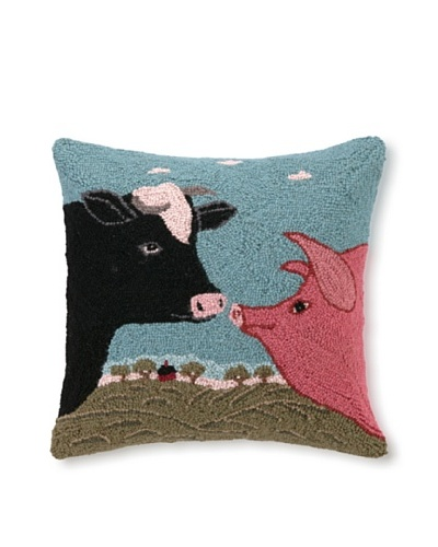 Hook Pillow, Country Cousins, 18 x 18