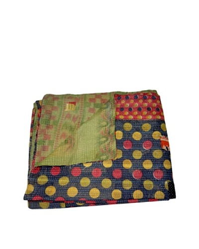 "Vintage Karishma Kantha Throw, Multi, 60"" x 90"""