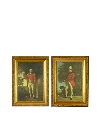 Set of Two Framed Reproduction Scottish Golfer Paintings