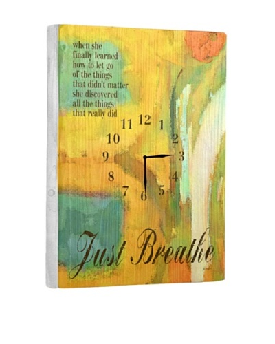 Just Breath Reclaimed Wood Clock
