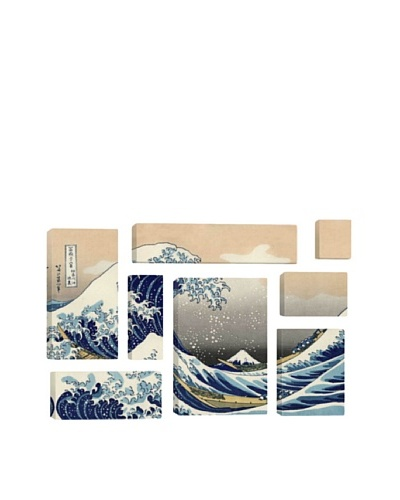 Katsushika Hokusai The Great Wave at Kanagawa 1829 8-Piece Giclée Canvas Print