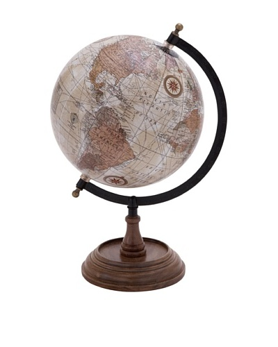 Globe with Metal and Wooden Details