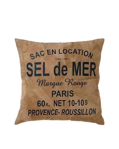"Leather ""Sel de Mer"" Decorative Pillow"