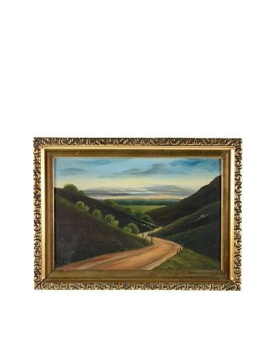 Winding Road Landscape, 1919 Framed Artwork