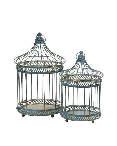 Set of 2 Lizzy Bird Cages