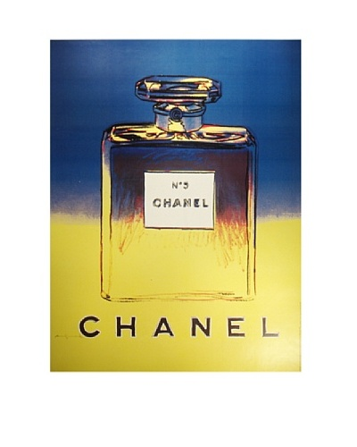 Rare CHANEL No. 5 Andy Warhol Ad Poster c1997As You See