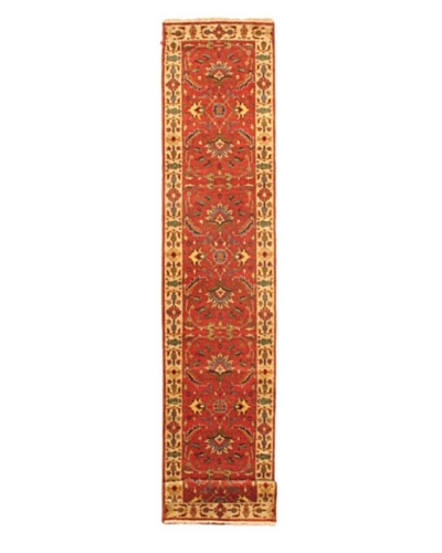 Hand-knotted Sarabi Transitional Runner Wool Rug, Red, 2' 8 x 20' 1 Runner