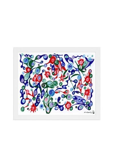 Manuel Roman Strawberry Patch Framed Art, Multi