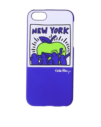 Keith Haring Collection Bezel Case for iPhone 5 with Earphones Big Apple/Blue