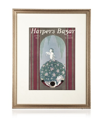 Original Harper's Bazaar cover dated 1921. by Erte. 16X20 framed