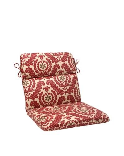 Waverly Sun-n-Shade Meridian Henna Chair Cushion [Red/Brown/Tan]