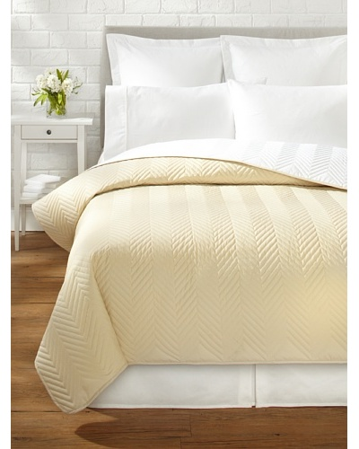 Percale Quilted Coverlet, Sahara, Queen