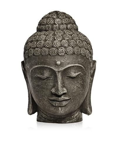 Biji Stone Buddha Head, Grey, Large