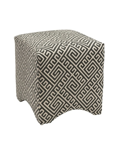 Marisa Graphic Ottoman, Grey