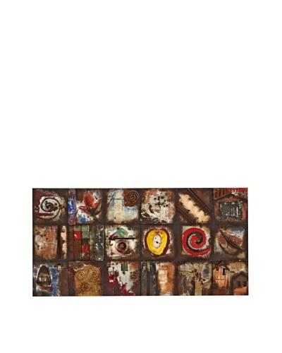 Wood/Metal Tiled 3-Dimensional Metal Art