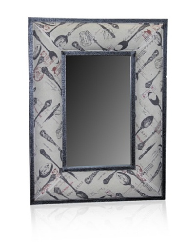 Mirror with Clothed Border [Beige/Brown]