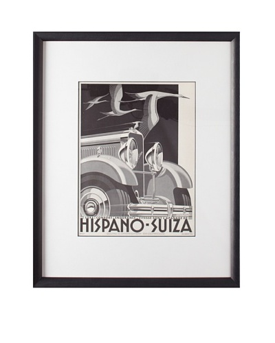 Original French Hispano Suiza Advertisement by A. Kow, 1932