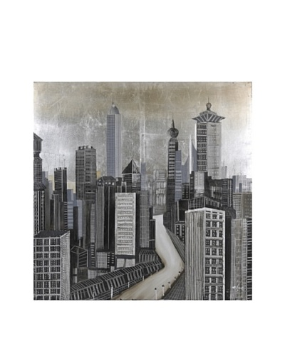 """City of Dreams"" Hand-Painted Canvas"