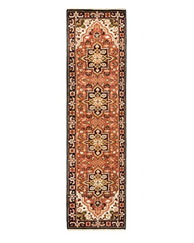 Hand-Knotted Royal Heriz Wool Rug, Copper, 2' 8 x 10' Runner