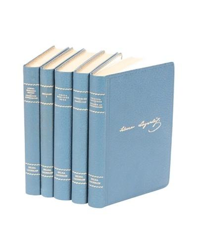 Set of 5 Vintage Leather Books IV