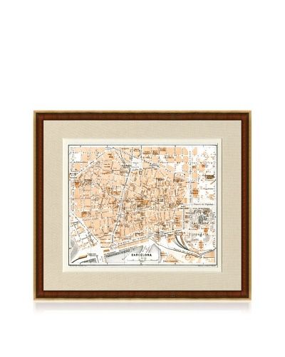 Antique Barcelona 1890's Map