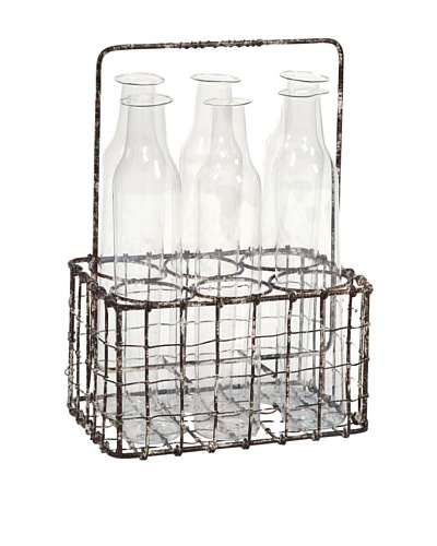 Craiova 6 Glass Bottle with Holder