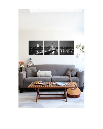 London Panoramic Giclée Canvas Print Triptych