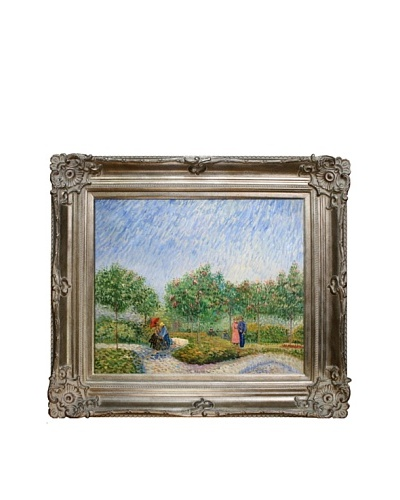 Vincent Van Gogh Couples in the Voyer d'Argenson Park at Asnieres Framed Oil Painting