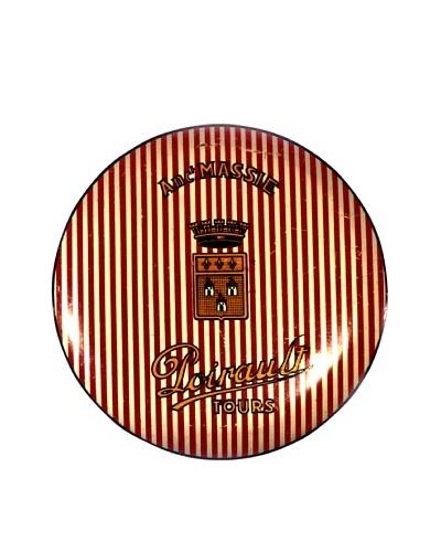 Vintage Anc' Massie Poirault Tours Tin, Red/Silver