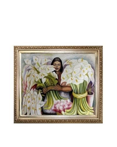 Diego Rivera's Vendedora de Alcatraces Framed Reproduction Oil Painting