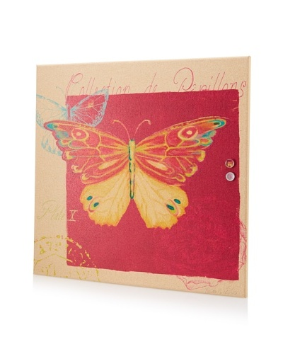 Kathryn White Butterfly Giclee on Cork Board